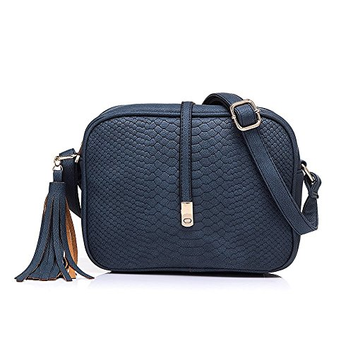Realer Small PU Leather Purses Cross Body and Handbags with Shoulder Strap for Women Blue (Blue Crossbody Purse compare prices)