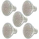 eSecure - 5x 60 LED GU10 Warm White Bright Light Bulbs Low Energyby eSecure