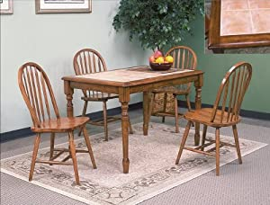 5PC Tile Top Dining Table And Chairs Set Furniture Decor
