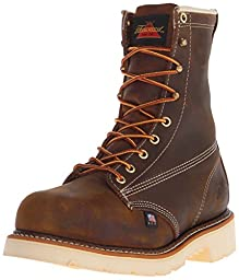 Thorogood Men\'s American Heritage 8 Inch Safety Toe Work Boot, Brown, 10.5 D US