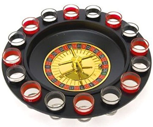 Buy Bargain Drinking Game Glass Roulette - Drinking Game Set (2 Balls and 16 Glasses) Casino Style D...