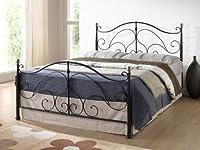 Birlea Milano 4ft Small Double Metal Bed, Black from Birlea Furniture Ltd
