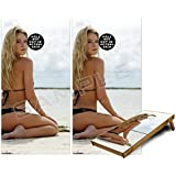 WraptorSkinz Cornhole Bag Toss Game Board Vinyl Wrap Skin Kit - Kayla DeLancey Black Bikini 2 (fits 24x48 Game Boards - Gameboards NOT INCLUDED)