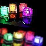 光る氷 キューブアイスライト LEDセンサーライト (単色 ホワイト 12個セット) Timber Home