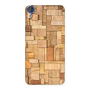 Cute Wood Blocks Pattern Back Case Cover for HTC Desire 820s