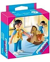 Playmobil - 4744 - Jeu de construction - Maman avec bébé sur cheval à bascule