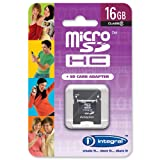 Integral Micro SDHC Media Memory Card with SD Adaptor Capacity 16GB Ref INMSDH16G4V2