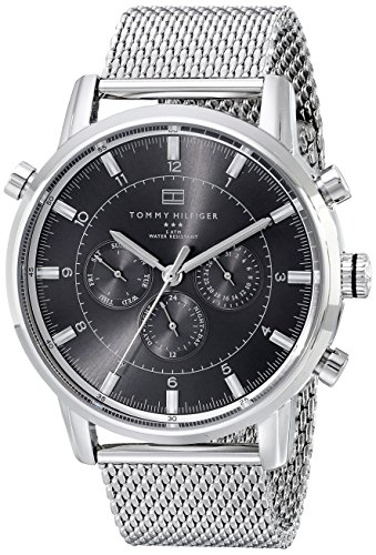 Tommy-Hilfiger-Mens-1790877-Silver-Tone-Stainless-Steel-Watch