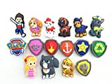 16pcs Paw Patrol (Puppy Power) Ryder Katie Fanfiction Shoe Charms Fits Jibbitz Croc Shoes & Wristband