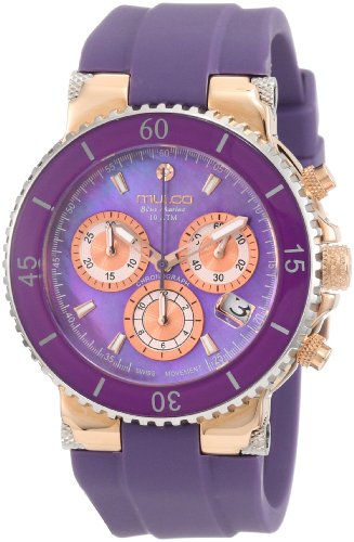 Mulco Homme & Femme 40mm Chronographe Violet Plastique Bracelet Montre MW3-70604-055