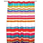 Famous Home Fashions Candy Stripe Fabric Shower Curtain