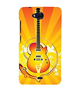 EPICCASE stylish guitar Mobile Back Case Cover For Micromax Canvas Play Q355 (Designer Case)
