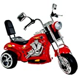 Lil Rider Rocking 3 Wheel Chopper Motorcycle, Red