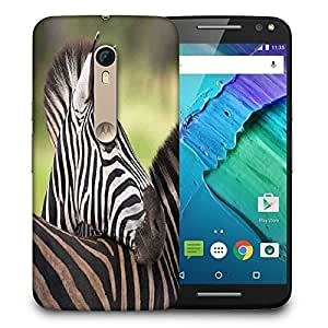 Snoogg Baby Zebra Printed Protective Phone Back Case Cover For Motorola X Style