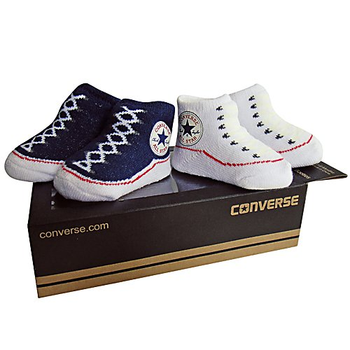 Baby Bootie Gift Set Socks - Athletic Navy/converse White By Converse