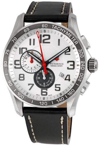 Swiss Watches:Victorinox Swiss Army Men's 241281 Classic XLS Alarm Chronograph Silver Dial Watch Images