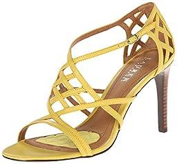 Lauren Ralph Lauren Women\'s Sydney Dress Sandal, Pineapple Kidskin, 7.5 B US