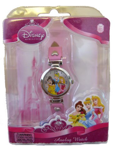 Disney Princess Girls Pink Analog Watch - 3 Princesses