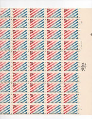 US-Netherlands Sheet of 50 x 20 Cent US Postage Stamps NEW Scot 2003