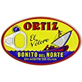 Ortiz Bonito Del Norte Tuna in Olive Oil 3.95 Oz Oval Tin (Spain) 24 Pack