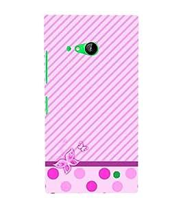 Purple Girly Butterfly Cute Fashion 3D Hard Polycarbonate Designer Back Case Cover for Nokia Lumia 730 Dual SIM :: Nokia Lumia 730 Dual SIM RM-1040