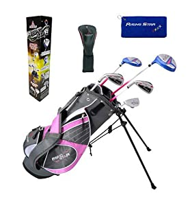 Paragon Rising Star Girls Kids Golf Clubs Set Ages 8-10 Lavender With Golf Gift by Paragon