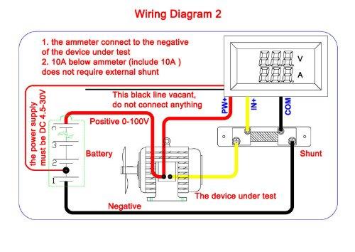 drok 0 28 100v dc mini digital voltmeter ammeter volt amp panel meter led dual display. Black Bedroom Furniture Sets. Home Design Ideas