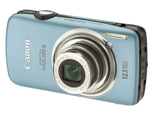 Canon Digital IXUS 200 IS Digital Camera - Blue (12.1 Megapixel, 5x Optical Zoom) 3.0 inch LCD