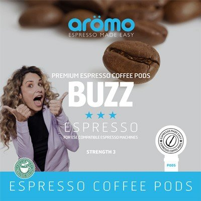 Order Aromo 'Buzz' ESE Coffee Pods 100 of French Roast espresso - Aromo