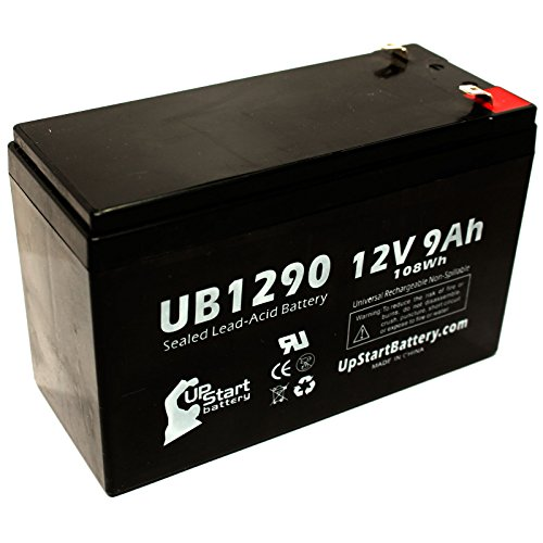 Cyberpower Cp585Lcd Battery - Replacement Ub1290 Universal Sealed Lead Acid Battery (12V, 9Ah, 9000Mah, F1 Terminal, Agm, Sla) - Includes Two F1 To F2 Terminal Adapters