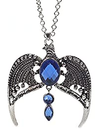 Young & Forever Silver Harry Potter Ravenclaw Horcrux Eagle Necklace For Men And Women For Women By CrazeeMania