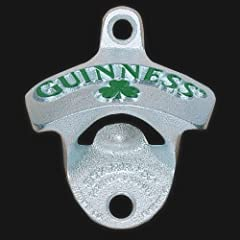 GUINNESS SHAMROCK WALL MOUNTED BOTTLE OPENER