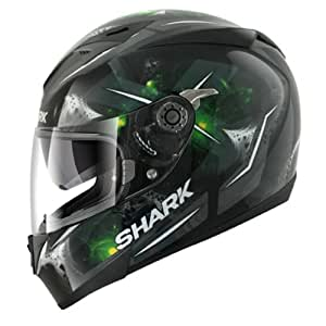 Shark S700-S Signal Motorcycle Helmet XS Black/Green (KAG)