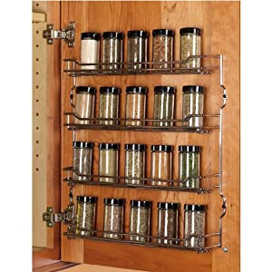 Amazon Com Hafele 391mm W Spice Rack 4 Shelves Chrome