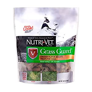 Nutri-Vet Grass Guard Chicken Wafers for Small and Medium Dogs, 19-1/2-Ounce