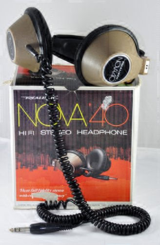 Realistic Nova 40 Hi Fi Stereo Headphone
