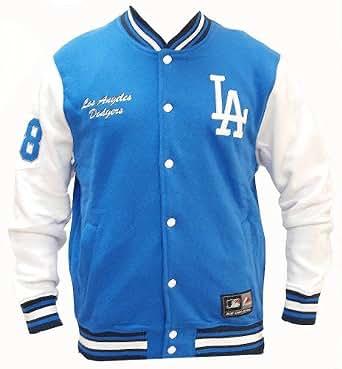Fleece Letterman Los Angeles Dodgers College Jacke Jacket: Clothing