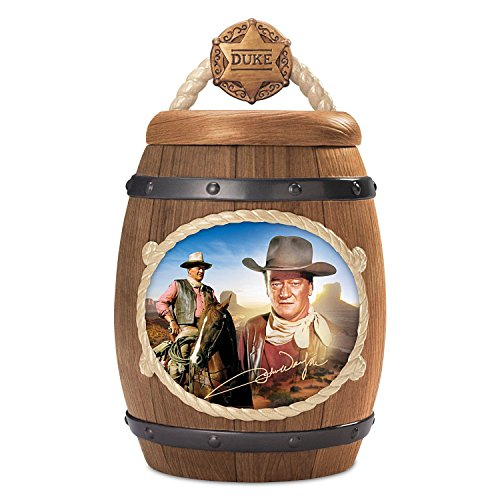 John Wayne One Tough Cookie Cookie Jar with FREE Recipe and Cookie Cutter by The Bradford Exchange (Sheriffs Badge Cookie Cutter compare prices)