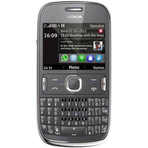 51DxWaGEPSL Nokia Asha 302 Unlocked GSM Phone with 3.2MP Camera, Video, QWERTY Keyboard, Wi Fi, Bluetooth, FM Radio, SNS Integration, MP3/MP4 Player and microSD Slot   Gray (International Version)
