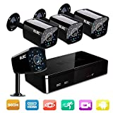 ELEC 4 HDMI CCTV 1500TVL 1.0MP Bullet Cameras and 8 Channel 960H Video Security System with IR Night Vision LEDs(Black)