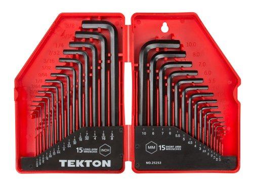 TEKTON 25253 Hex Key Wrench Set, 30-Piece