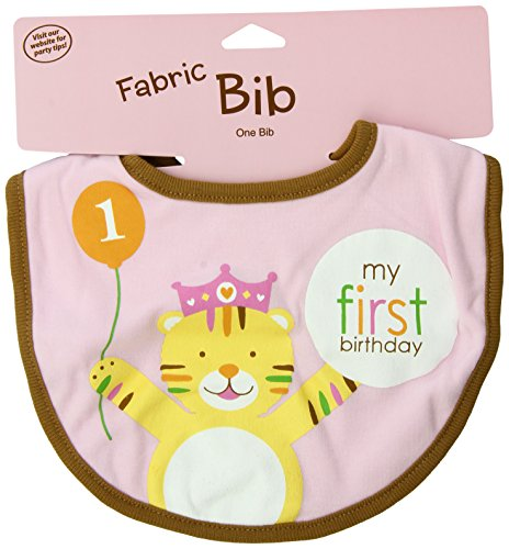 Creative Converting Sweet at One Girls First Birthday Fabric Bib