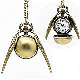 Toy - Harry Potter Golden Snitch Quidditch Kette Anh�nger mit Uhr Goldener Schnatz Kugel mit Fl�gel Premium Qualit�t Neu