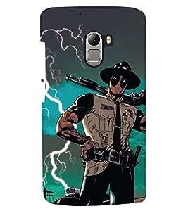 PRINTSHOPPII GUN HERO Back Case Cover for Lenovo Vibe K4 Note
