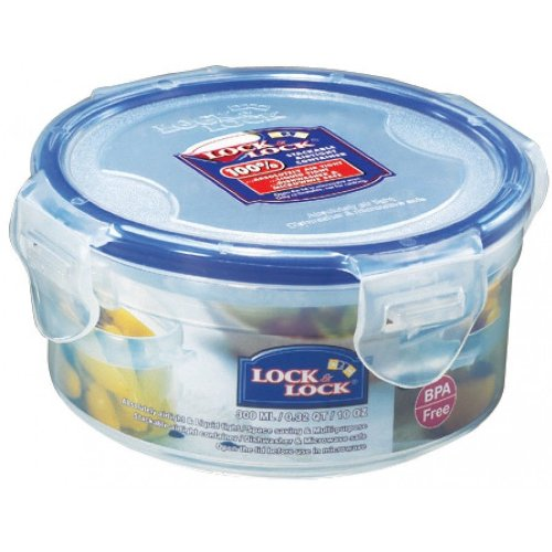 Lock&Lock 10-Fluid Ounce Round Food Container, Short, 1-1/4-Cup