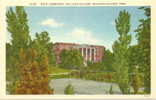 1940s Vintage Postcard Boys' Dormitory - Milligan