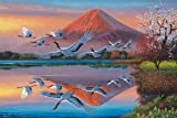 Yanoman - Jigsaw Puzzle 1,000 Pieces - Birds ahead the Mount Fuji