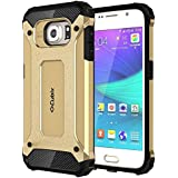 Cubix Impact Hybrid Armor Defender Case For Samsung Galaxy S6 (Gold)