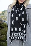 Ladies Fraas Snowflake Embroidered Scarf In 3 Colours