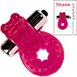 Pink B.O.B.® Jaguar Vibrating Cock Ring Sex Toy for Men - Penis Vibrations & Clitoris Stimulation during Lovemaking - Male Erection Band Device
